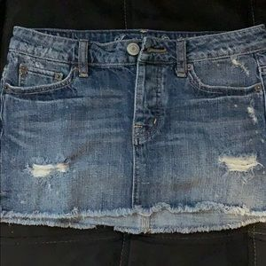 Jean skirt worn once just too big!!